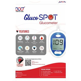 POINT OF CARE GLUCOSE MONITOR WITH 25 STRIPS ( PGS-10 )