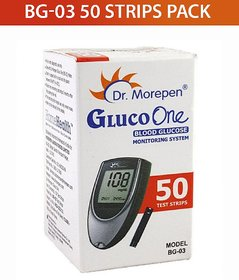 Dr. Morepen 50 SUGAR Test Strips for BG-03 Glucometer ( Only Strips Pack )