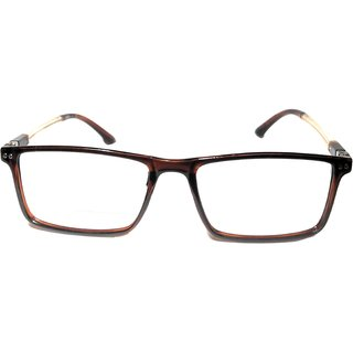 Amar Lifestyle Reading Glasses +1.25 Single Vision brown rectangular plastic  Unisex  _ar24ai1na3754