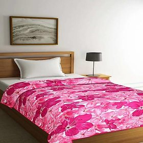 SIE STORE Pollycotton Multicolor reversible floral printed Double Bed Dohar