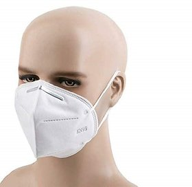 Flat Fold Respirator with NIOSH N95 Certification which Protects against Airborne Viruses, Pack of 10