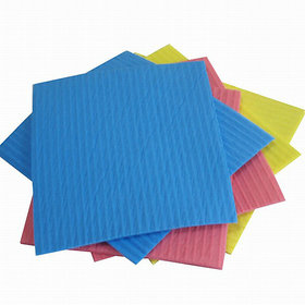 Reusable Super Absorbent Non Scratchable Cleaning Sponge Wipes Pack of 12 (Size 21 x 19 cm)