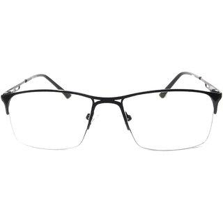 Amar Lifestyle Photochromatic Indoor-Outdoor Glasses black metal half rim rect.  Unisex  _na1ko2da4318