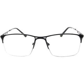 Amar Lifestyle Reading glasses +2.50 Bifocal black metal half rim rect.  Unisex  _na1ko2da4318