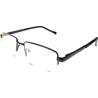 Amar Lifestyle Reading Glasses +2.25 Single Vision metal black semi rimless unisex  _ar7ai1na2156