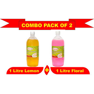 Liquid Hand Wash 1000ml Pack of 2 of Flora + Lemon