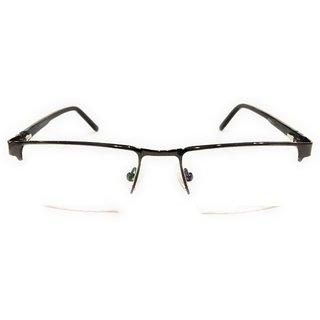 Amar Lifestyle Reading Glasses +2.50 Single Vision black rectangular plastic half rim  Unisex  _na7ko5da5164