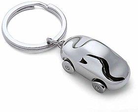 RaJ Mini Alloy Metal Car Keychain Cute Silver Key Chain