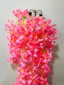 Cherry World Artificial Peache Flowers and a Steel Stand for Indoor/Outdoor Flower Decorative Wall  with Steel Stand