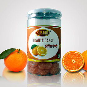 Surbhi Fruity Juicy Orange candy ( wahi bachpan ka swad ) hygienic tin can 100g  ( pack of 3 )