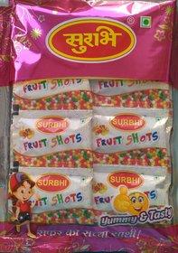 Surbhi Yummy Delicious Juicy Fruity Fruit shots  Goli hygienic Pouch 210 pouch3 gram