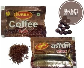 Surbhi Yummy Delicious Coffee balls Jambo Pack real Taste Of Coffee hygienic Pouch 210 pouch3 gram