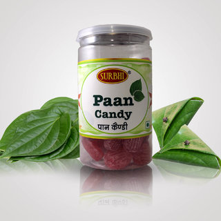 Surbhi Pan Candy Original Paan Pasand Toffee ( wahi bachpan ka swad ) hygienic tin can 100g  ( pack of 3 )