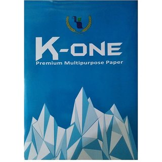 K One X series Unruled A4 Printer Paper  Set of 1, White