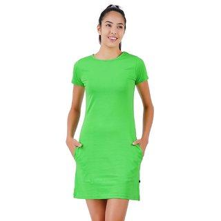 Stoovs, Cotton Women's  T-shirt Dress, Green