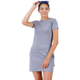 Stoovs, Cotton Women's  T-shirt Dress, Melange Grey