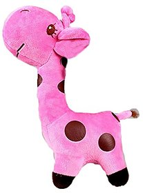 Kuhu Creations Supreme Multicolor Cute Soft Toys.(Giraffe (18cm) Pink).