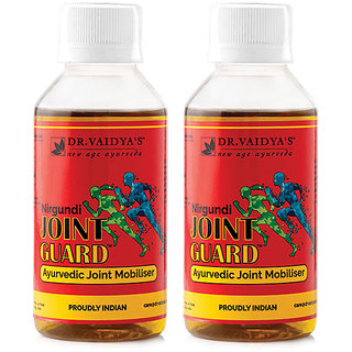 Dr. Vaidya's Nirgundi Joint guard | Ayurvedic Oil For Joint and Muscular Pains | 100 ml X Pack of 2