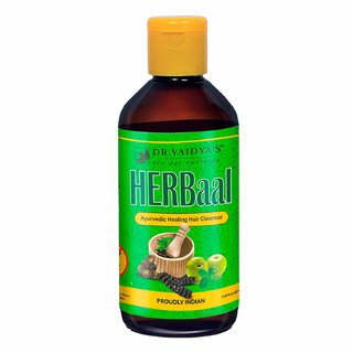 Dr. Vaidya's Herbaal | Ayurvedic Shampoo for Hairfall, Dandruff & Greying | 200 ml x Pack of 1