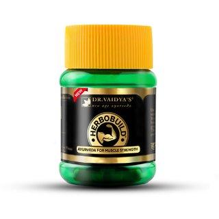 Dr. Vaidya's Herbobuild | Ayurvedic Capsules For Muscle Gain | 30 Capsules