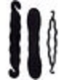 Gulzar 3 Pieces French Hair Braid Tool Magic Twist Styling Holder Clip Roller Hook Hair Accessory Set (Black) Hair Acces