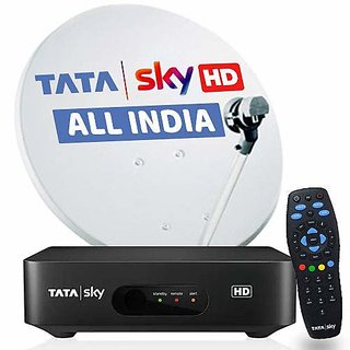 Tatasky HD connection with one month FTA PACK (153/-Per month)
