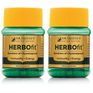 Dr. Vaidya's Herbofit | Goodness of Chywanprash in Capsule for Immunity and Energy | 30 Capsules x Pack of 2