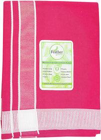 Men's Cotton Dhoti - (Pink Colour- 2 meter)