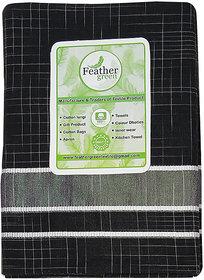 Black Men's Stylish Cotton Dhoti - (Black Colour- 2 meter)