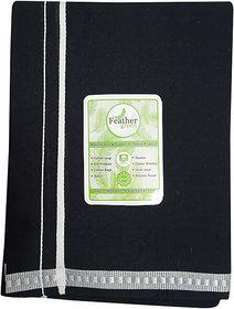 Cotton Branded Lungi for Men-(Black Colour  2 meter)