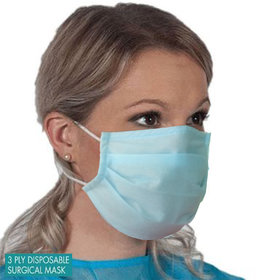 GL CREATION Surgical Mask Pollution, Virus Protection Disposable Lt.Blue Three Layer (3 Ply) Non-Woven (Pack Of 10)