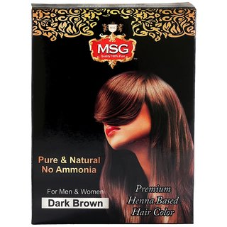 MSG Henna Based Hair Color, Dark Brown (No Ammonia)