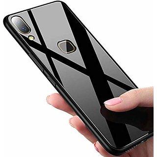 Maggzoo Fibre Glass Look Back Case Cover Soft Edge Protective TPU Bumper For Samsung Galaxy M20 ( Black )