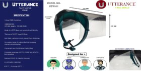 UTTERANCE COVER/FACE Shield MODEL - UTW-01  Pack of 2