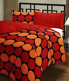 KARTIK HANDLOOM Polycotton Micro Fiber Multicolor reversible floral printed Single Bed Dohar