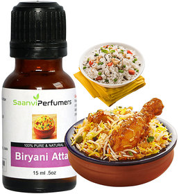 Saanvi Perfumers Biryani Attar 15ML For Use Veg  Non Veg Biryani and Pulao