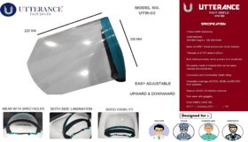 UTTERANCE COVER/FACE Shield MODEL - UTW-02  Pack of 2