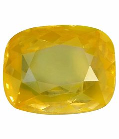 Riddhi Enterprises 6 ratti natural yellow sapphire pukhraj energized loose gemstone for astrology purpose