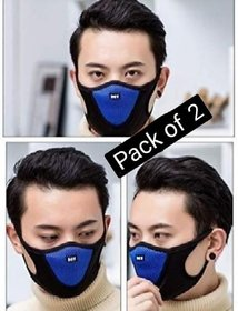 RYLEN Faca Mask M1 Anti Pollution Breathable Bike Riding Mask for Men Women Pack Of 2(Colour Whataver)
