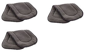 Neo Rising Washable Extra Thick 5 Layers Reusable Cloth Insert for Diaper/Nappy, (Grey, 3 Unit).