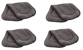 Neo Rising Washable Extra Thick 5 Layers Reusable Cloth Insert for Diaper/Nappy, (Grey, 4 Unit).