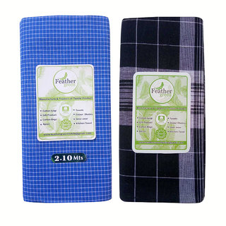 Checked Lungi For Men(Pack of 2 pcs)