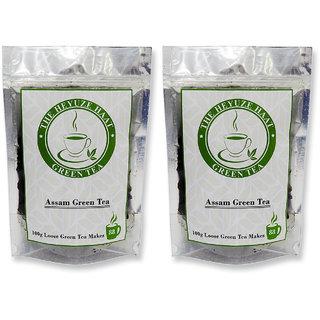 HEYUZE Green Tea Leaves Loose 100 g Pack of 2
