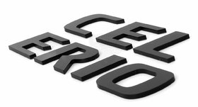 Black 3D Car Stickers Accessories 3D Emblem Logo for CELERIO (Medium)
