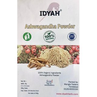 IDYAH Ashwagandha Powder, helps in reduce blood sugar levels, anticancer properties, reduce cortisol levels, reduce stre