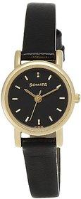 Sonata Analog Black Dial Womens Watch - NF8976YL03J