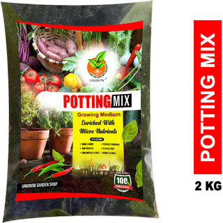 Organic Potting Mix - mixed with cocopeat, compost and enriched with micro nutrients (2kgs pack)