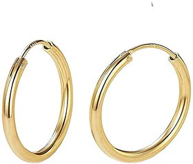 Earring Gold Plated EARRING Clip-On (Bali) Women and Girls, 1 Pair