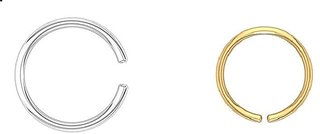 Nose Pin or Silver (Bali) and Golden Plated Nose Ring Women and Girls, set of-2, SL-GD-NOSEPIN-SET2