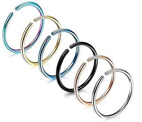 Nose Ring or Silver, blue, antique,golden Plated Nose Ring (Bali) Women and Girls, SL-GD-ERRNG-SET2